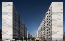 Rehabilitación de 4 bloques de viviendas en Corenellá. Fotografia de arquitectura de Simon Garcia arqfoto