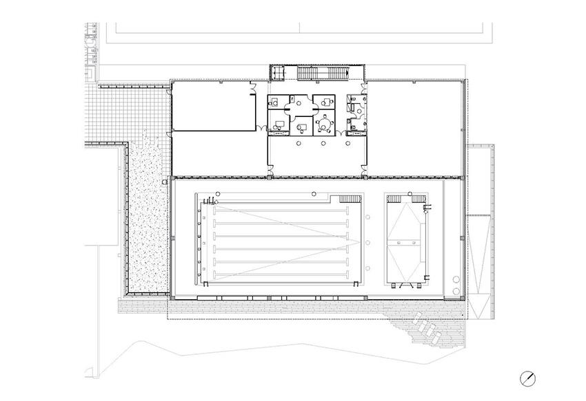 Reportaje fotografia arquitectura piscina ametlla de mar for Planos de piscinas temperadas
