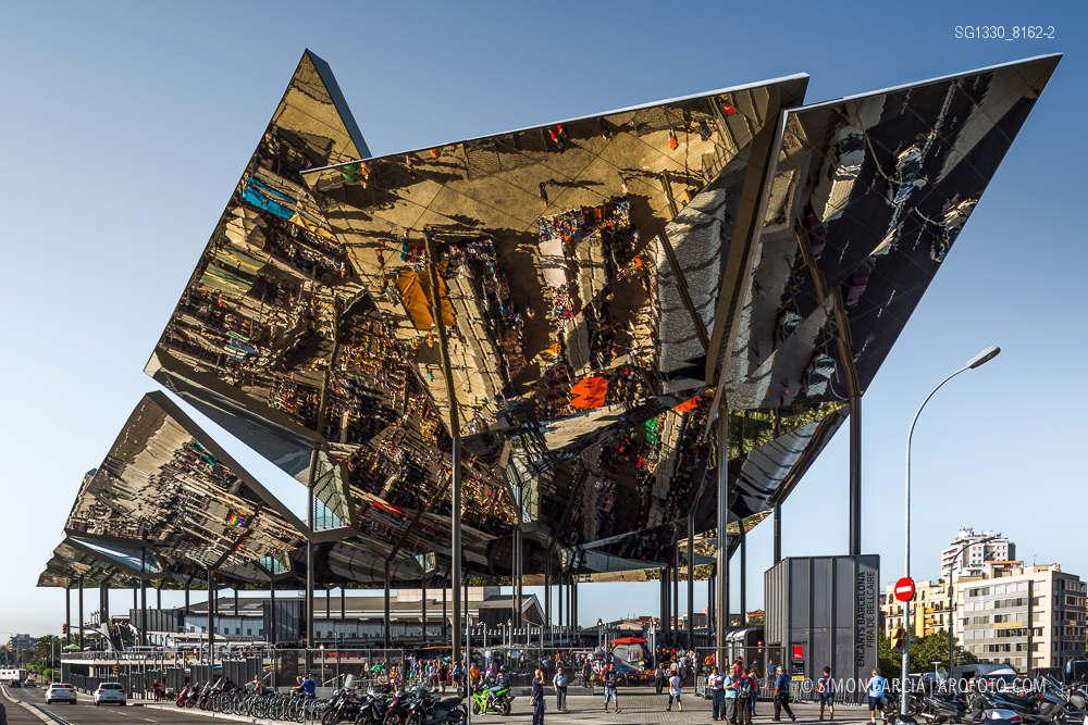 Reportaje de fotografia de arquitectura mercat dels - Encantes barcelona ...
