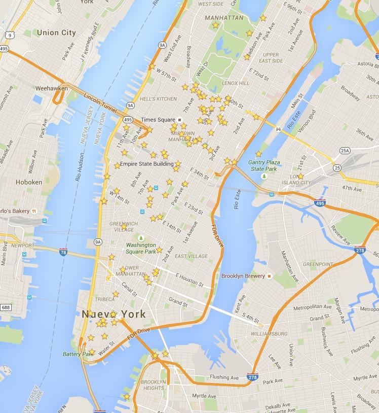 Fotografia de Arquitectura Mapa Nueva York