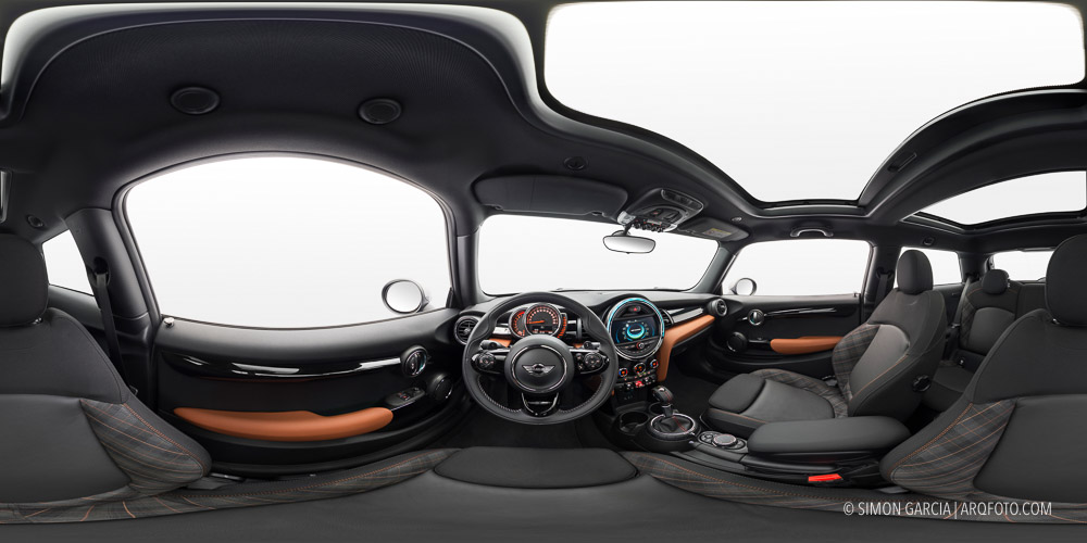 Panoramica 360 interior coche Mini Seven