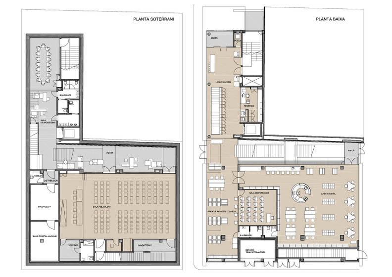 Fotografia de Arquitectura Biblioteca Sant Vicenç de Castellet-doc-01