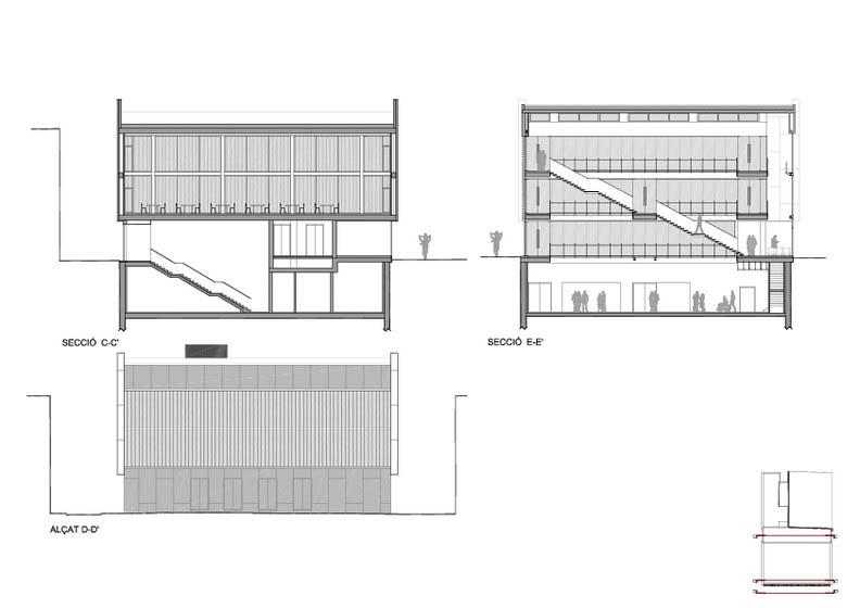 Fotografia de Arquitectura Biblioteca Sant Vicenç de Castellet-doc-05