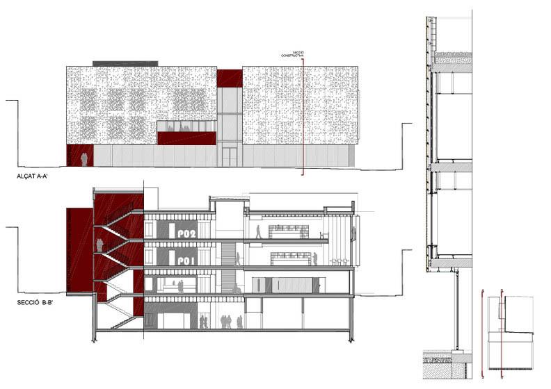 Fotografia de Arquitectura Biblioteca Sant Vicenç de Castellet-doc-03
